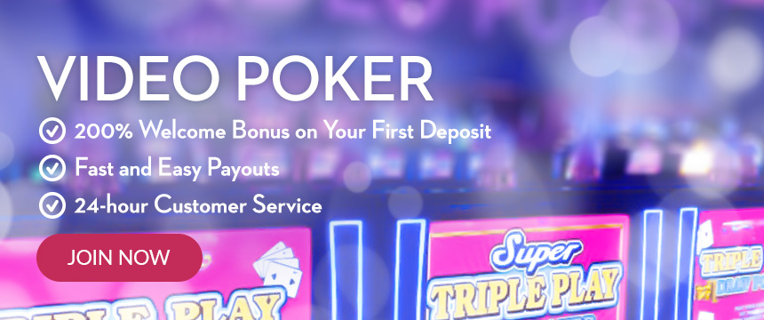 Play Video Poker for Real Money at Slots.lv